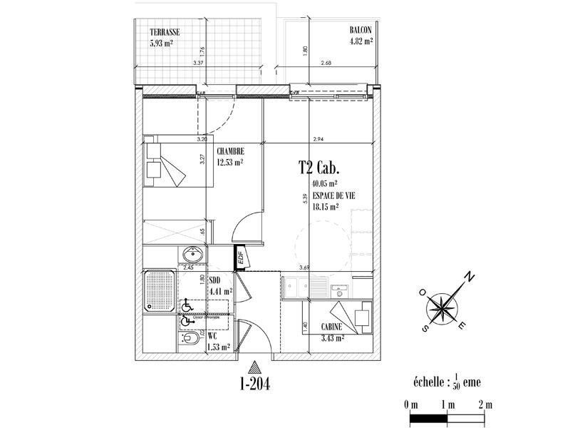 Appartement Face mer à CAYEUX SUR MER - Equinoxe n°204