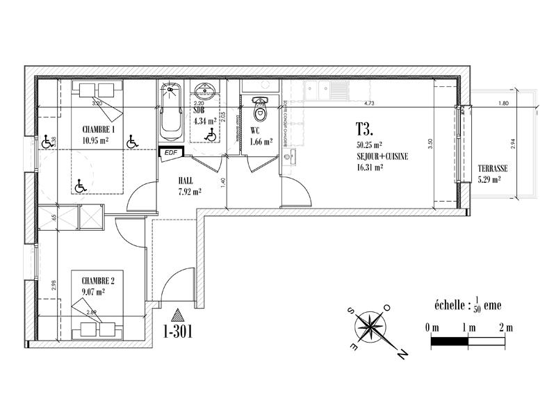 Appartement Face mer à CAYEUX SUR MER - Equinoxe n°301