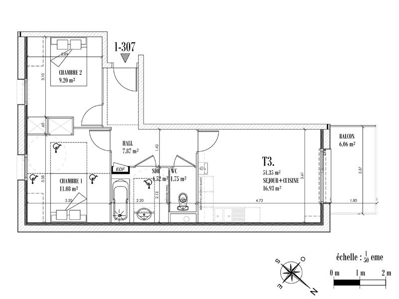 Appartement Face mer à CAYEUX SUR MER - Equinoxe n°307