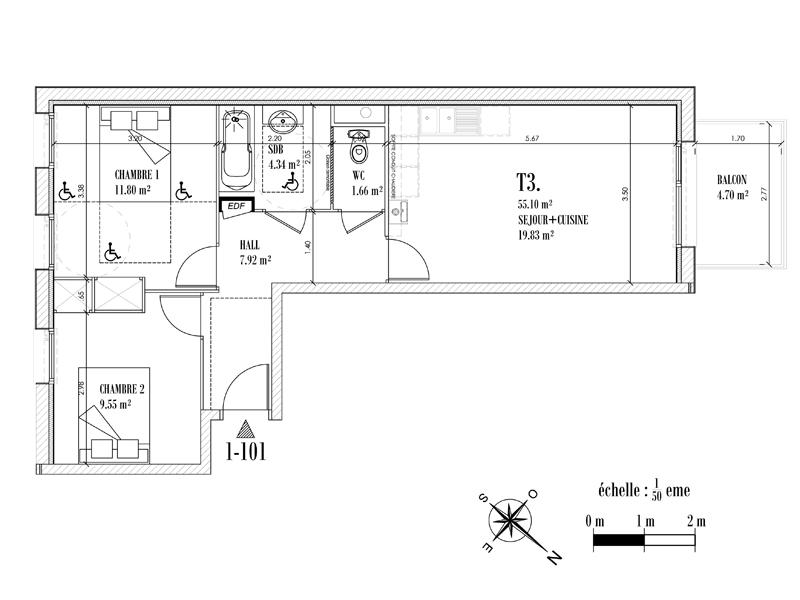 Appartement Face mer à CAYEUX SUR MER - Equinoxe n°101