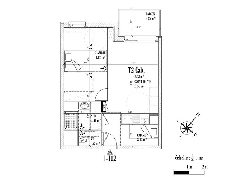 Appartement Face mer à CAYEUX SUR MER - Equinoxe n°102