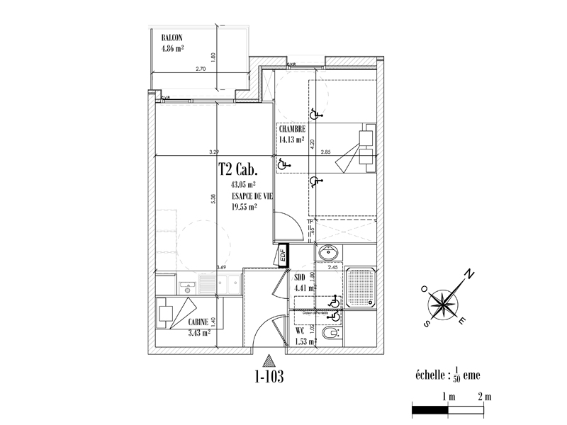 Appartement Face mer à CAYEUX SUR MER - Equinoxe n°103
