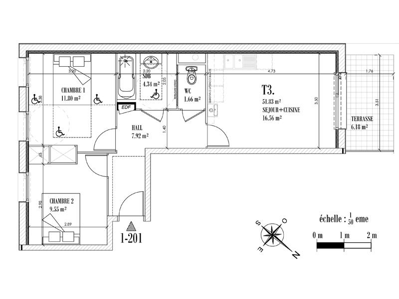 Appartement Face mer à CAYEUX SUR MER - Equinoxe n°201